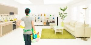 how to clean home on budget