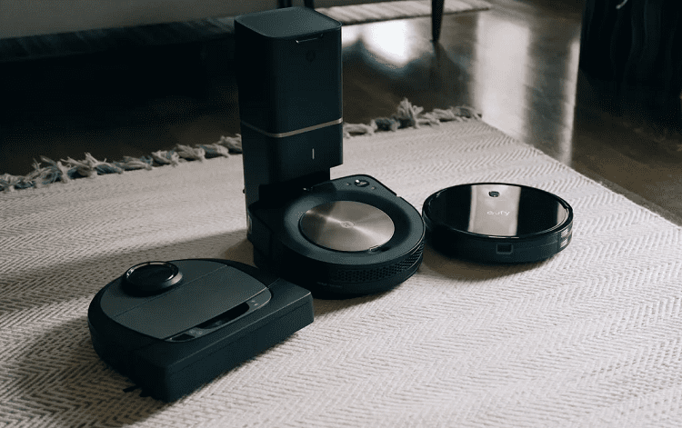 Three Robot Vacuum Cleaners