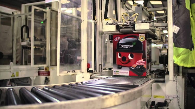 Red Henry the Hoover in Factory