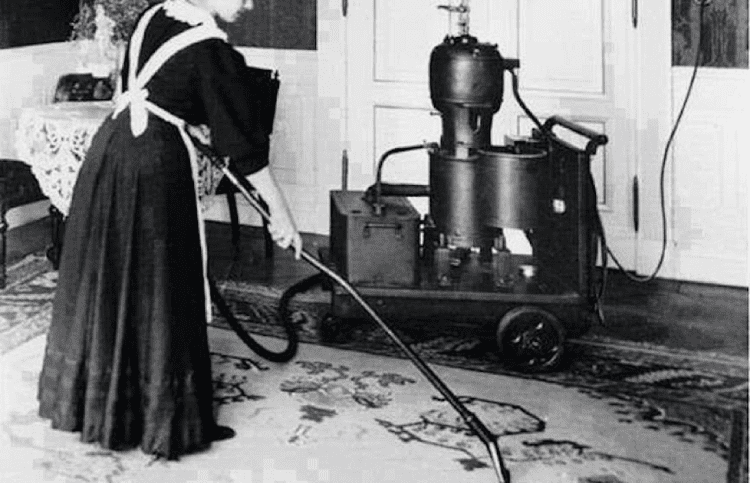 first vacuum cleaner from 19th century
