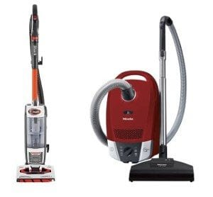 upright or cylinder vacuum cleaner