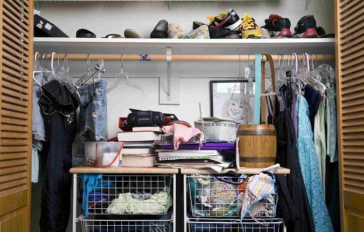 wardrobe full of things