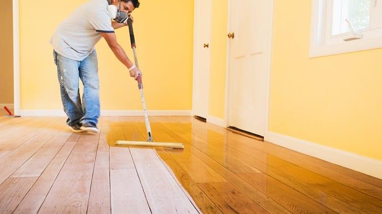 wodden floor polishing