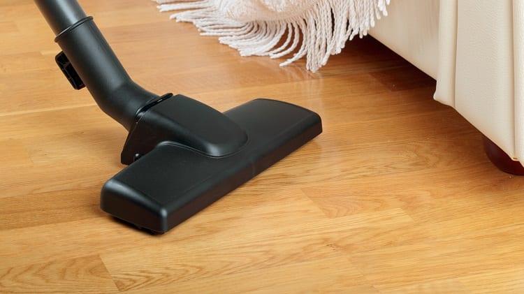 once a week vacuum wood floor