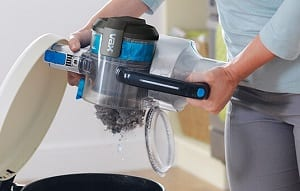 vax blade easy empty dust canister