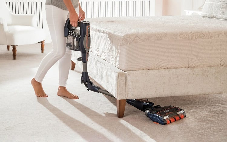 cleaning under the bed