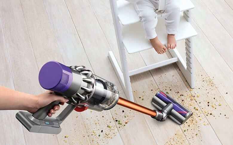 dyson v10 cleaning baby food